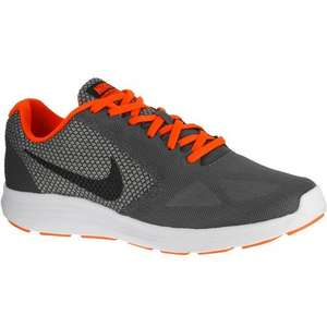 NIKE REVOLUTION 3 GREY ORANGE MENS TRAINERS @ decathlon £19.99  Free click and collect