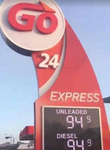 Black Friday Fuel prices 94.9p per litre @ Go 24 petrol - Omagh Northern Ireland
