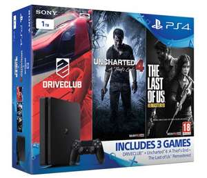 PS4 Slim 1TB Console + Uncharted 4 + Driveclub + The Last of Us @ eBay ShopTo - £224