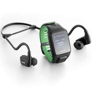 Tomtom Runner 3 large GPS + cardio + music + bluetooth headphones £170.58 @ Sweatband