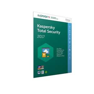 Kaspersky Total Security 2017 (10 devices 1 year) £15.99 @ Amazon