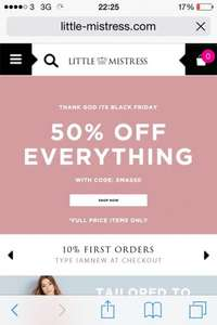 Little Mistress Dresses 50% off full price items for 3 days