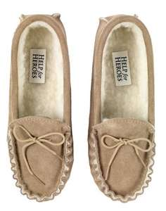 natural sheepskin slippers £16 at Help for Heroes