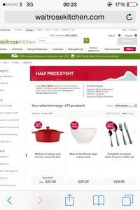 50% Off Selected Kitchenware, Great Bargains @ Waitrose