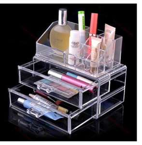 Transparent Makeup Organizer with two drawers £5.43 on Amazon by Feibrand