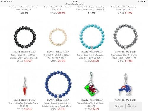 Thomas Sabo pearl bracelet £17.99 johngreedjewellery