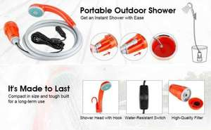 Only £11.49 for Suaoki Portable Outdoor Shower - Sold by Suaoki UK and Fulfilled by Amazon (Prime or add £3.99)
