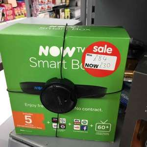 now tv SMART box with 5 months entertainment £30 @ Asda instore (Galashiels)