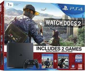 Sony PlayStation 4 Slim 1TB Console + Watch Dogs 2 + Watch Dogs (PS4) - £229.99 @ Amazon [Lightning Deal]