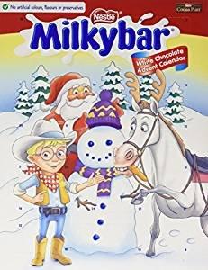 Pack of 12 milky bar advent calendars 85g £8.99 prime / £13.74 non prime Amazon