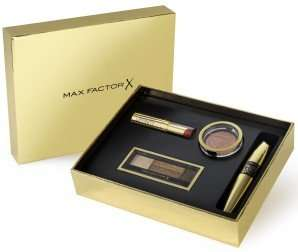 Max factor customisable gold gift box only £19.00 at Boots....add a mascara, blush, eyeshadow and lipstick to basket and gift box free....PLUS you will get a free max factor Christmas gift for spending over £15...free instore collection