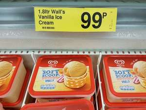 Wall's Soft Scoop 1.8ltr Vanilla Ice Cream 99p @ Farmfoods