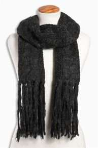Black Cable Tassel Scarf reduced from £16 to £6 at Next - free collection from store