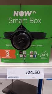 NowTV Smart box £24.50 in store and online Tesco