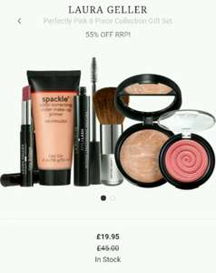 LAURA GELLERPerfectly Pink 6 Piece Collection Gift Set was £45 reduced to £19.95 now £17.96 with code and £1.95 p&p or free with orders over £30 @ Escentual online