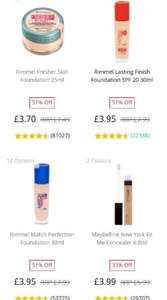 Various Foundations at discounted prices in most shades available on Feelunique online. Free p&p on all orders over £15 & code for none discounted items