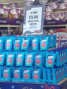 Cadbury Roses 5 boxes for £5. Nationwide in Cadbury stores