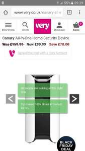 canary-all-in-one-home-security-device @  very was 159.99 now £89.99