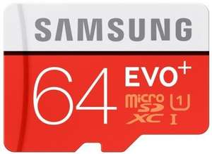 Samsung EVO+ Plus 64GB microSDXC 80MB/s UHS-I Class 10 Memory Card + SD Adapter £16.99 @ Moby memory