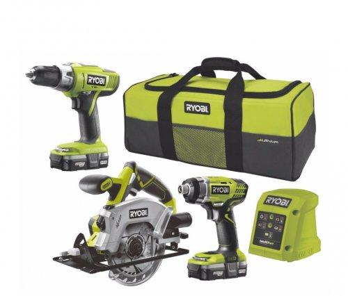 Ryobi twin drill, saw and battery set £175 @ B&Q