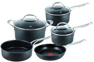 Jamie Oliver By Tefal Professional Series, Hard Anodised, 5 Piece Set £195 @ John Lewis