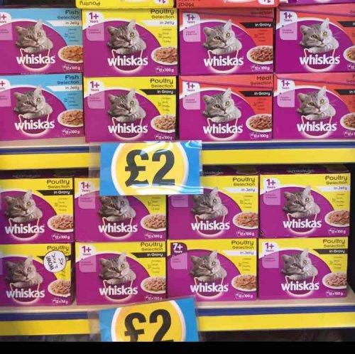 Whiskas Cat Food Pouches x12 Full Pouches £2 @ Poundland