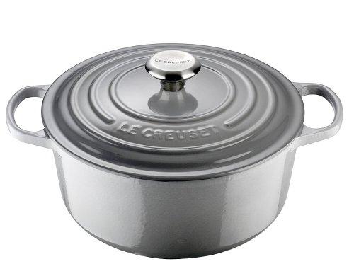 Amazon -  Le Creuset Signature Cast Iron Round Casserole, 24 cm - Midnight Grey £109 @ Amazon