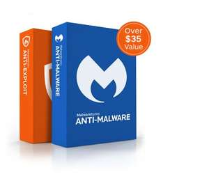 Malwarebytes Anti-Malware + Anti-Exploit PC Software £7.02 (New customers)