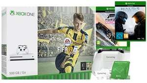 Xbox One S FIFA 17 Bundle (White - 500GB) + get a free Forza Horizon 3 and Halo 5 (3 games) for £219.99 After poss Quidco 195.99 @ Microsoft