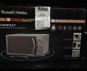 russell hobbs compact silver microwave £17.96 from Asda, Cemetery Road, Bradford