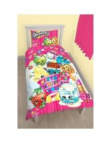 Shopkins shopaholic single duvet set £10 with free collect + VERY