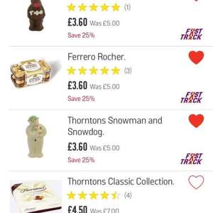 Thorntons Chocolates Reduced - price from £3.60 @ Argos