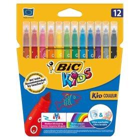 Bic Kids Kid Couleur Felt Tip Pens 12 Pack Was £3 Now £1.50 @ ASDA