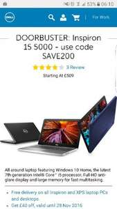 DELL inspiron 5000 i5 ( 7th gen) FHD screen £349.99 @ Dell (From Midday)