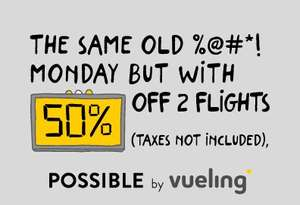 Cyber Monday 50% off flights with Vueling