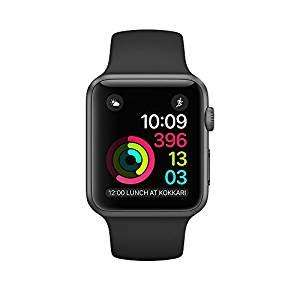 Apple Watch Series 2 42 mm Space Grey Aluminium Case with Black Sport Band - £369.00 - Amazon UK