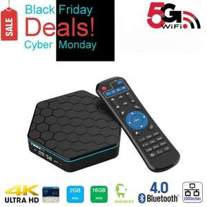 Amazon Cyber Monday Lightning Deal Greatever T95Z PLUS TV BOX Amlogic S912 Octa Core Android 6.0 Marshmallow 2GB 16GB KODI 2.4G/5G Dual WIFI Band 1000M LAN Bluetooth4.0 4K 3D Streamming Media Player £47.99 Sold by Greatever UK and Fulfilled by Amazon