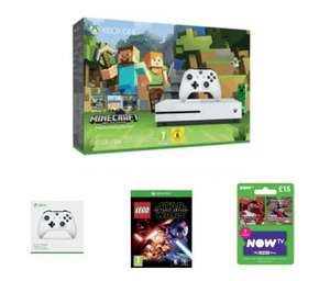 Xbox One S Minecraft Favourites Bundle With EXTRA Wireless Controller, LEGO Star Wars and NOW TV 2 Month Sky Cinema Pass - £214.99 - Game