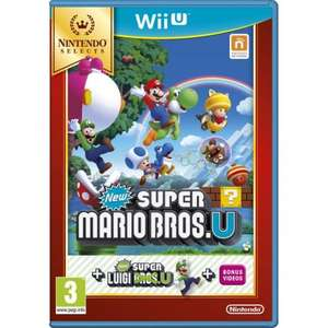Nintendo Selects - Super Mario Bros U. (Includes Super Luigi U) - £14.99 instore at HMV