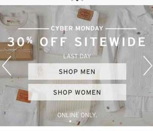 Levi's CYBER MONDAY 30% OFF SITEWIDE LAST DAY