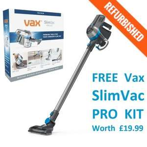 Vax Slimvac Cordless Refurb with a free pro kit worth £19.99 - free 24 hour delivery - £66.49 Direct Vacuums