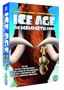 Ice Age 1-4 plus Mammoth Christmas: The Mammoth Collection (DVD Boxset) - £5 delivered @ Tesco
