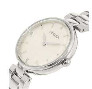 Bulova Diamond Women's Quartz Watch with Mother of Pearl Dial Analogue Display and Two Tone Stainless Steel Gold Plated Bracelet £65.14 @ Amazon