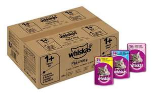 Whiskas Wet Cat Food 84 x 100 g Pouch £10.72 / £21.25 non prime @ Amazon