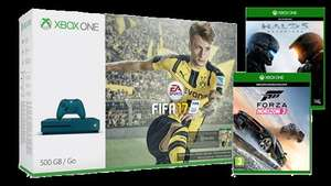 Microsoft uk store---Xbox One S FIFA 17 Special Edition Bundle (Blue - 500GB) Forza 3 and Halo 5 for £229 and only £205 through quidco