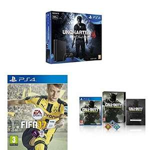 PS4 + COD IW + FIFA17 + Uncharted 4 £219.99 via Amazon