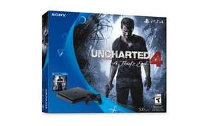 PS4 Slim 500GB Uncharted 4 Console Bundle Black (D Chassis) + free FIFA 17 + free del. (or CaC) £199 or console + 5 games bundle £236.39@ tesco.com