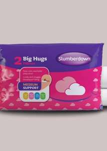 Slumberdown Big Hugs Pillow Pair £6 @ Matalan