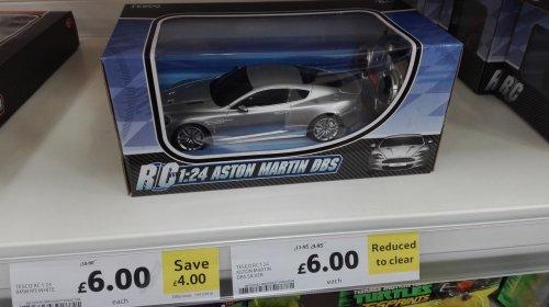RC Aston Martin dbs silver car 1:24 £6 or lamborghini lp700 and Bugatti Veyron £7 @ Tesco Hanley instore