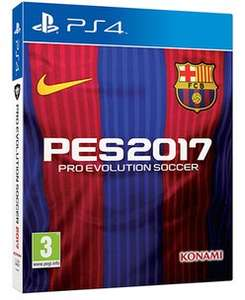 Pro Evolution Soccer 2017 PS4 + steelbook £20 GAME